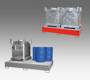Fond bac de rétention futs et containers